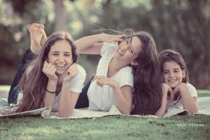 צילומי בת מצווה עם המשפחה